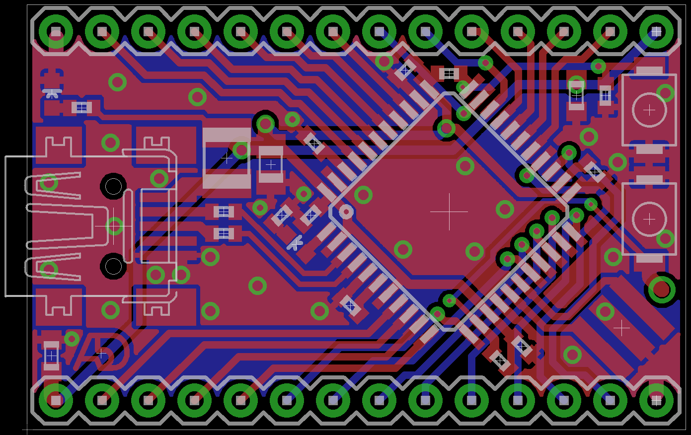 Atmegaxxu4 Development Board A5d Project Hub Assembled From Schematic 1 I Will Also Add Some Images Of The 2a Version Boards Ordered And Eagle Included Available For Download Here